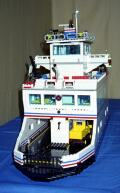 LEGO car ferry front view