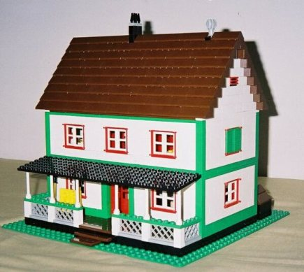 front of the Farmhouse model